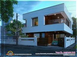 contemporary open balcony villa design indian house plans