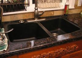 Black Granite Sink Kitchenideasecom - Black granite kitchen sinks