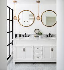 round bathroom vanity farmhouse with bath accessories copper