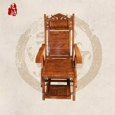 yellow rosewood mahogany furniture yang hua rocking chair all