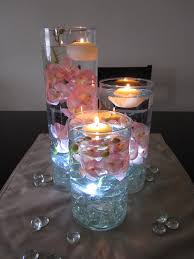 used wedding centerpieces led centerpiece idea it looks like she just used silk