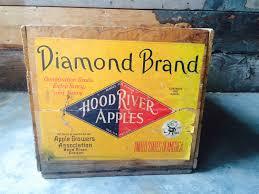 diamond brand hood river apples reclaimed wood fruit crate by