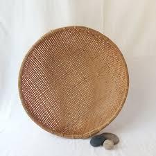 Rattan Baskets by Vintage Round Rattan Basket Large Wall Basket Large Rattan Wall