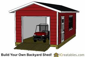 Backyard Garage Ideas 12x24 Garage Shed Plans Icreatables