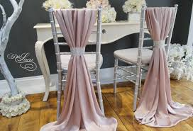 wedding chair cover sash silky satin blush pink mink