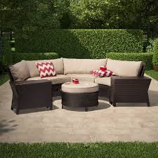 Wicker Sectional Patio Furniture by Harrison 7 Piece Wicker Sectional Patio Seating Set Threshold