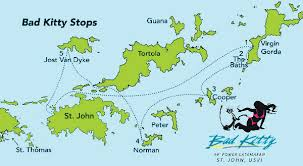 map of the bvi bad 5 stop 4 island tour of the islands
