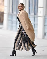 olivia palermo nails this winter street style trick fashion