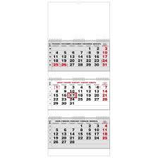 Kalendář 2018 Svátky Nástěnný Kalendář Tříměsíční Skládaný S Mezinárodními Svátky