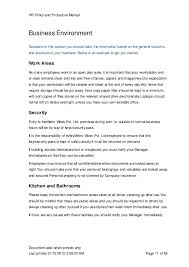 kitchen manual template hr manual template