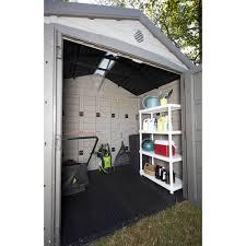 keter 8 u0027 x 6 u0027 sunterrace resin storage shed beige walmart com