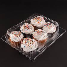 containers for cupcakes katgely 6 cavity cupcake containers with