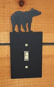 custom light switch covers bear light switch cover decorative metal switch plate cover