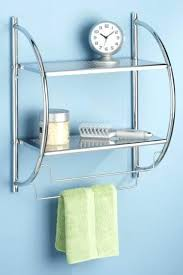 Bathroom Shelves With Towel Rack Bathroom Shelf With Towel Bar Jackysan Me