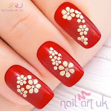 flower adhesive nail stickers nail art uk intended for nail art