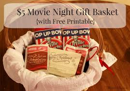 Movie Themed Gift Basket 5 Movie Night Gift Idea With Free Printable Efficient Momma