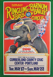 Barnes And Bailey Circus Male Asian Elephant Tommy King Tusk At Ringling Brothers And