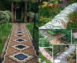 Walkway Ideas For Backyard Garden Sidewalk Ideas Photogiraffe Me