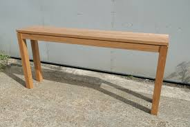 Wood Console Table Paul Stratton Furniture Private Commissions Cherry Wood