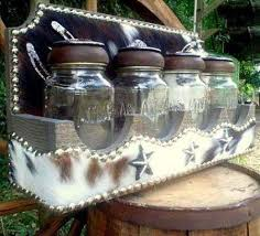 western kitchen canisters western decor glass kitchen canisters with cowhide covered wood