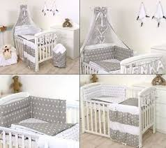 Baby Cot Bedding Sets Grey Baby Bedding Set Cot Cot Bed 3 5 9 Pieces Cover Bumper