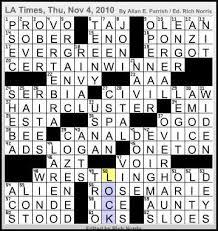 l a times crossword corner allan e parrish