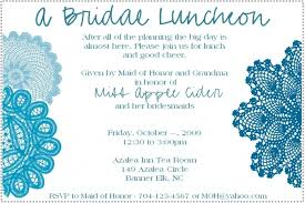 Bridal Shower Invite Wording Wedding Luncheon Invitation Wording Allabouttabletops Com