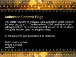element layout template is not supported film and movie reels a powerpoint template from presentermedia com