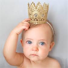 decorative headbands artificial mini felt glitter gold lace crown headbands for