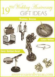 19th wedding anniversary gift nineteenth anniversary 19th wedding anniversary gift ideas
