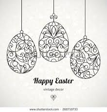 black outline ornamental eggs your easter stock vector 260710733