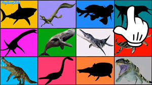 prehistoric sea creatures for children learn animals names