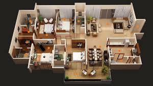 amusing 3 bed room home plan 3d photos best inspiration home