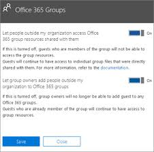guest access in office 365 groups outlook