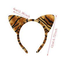 tiger headband fashion cloth plush tiger leopard cat ear headband women