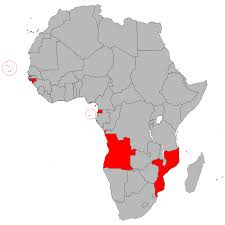 Map Of Africa Countries by Portuguese Speaking African Countries Wikipedia