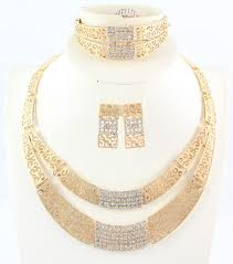 bridal gold sets dubai jewelry set costume jewelry party sets fashion gold color