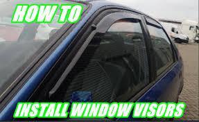 jdm oem lexus window visors how to install aftermarket window visors on a honda civic team