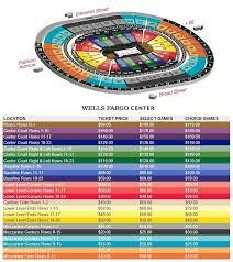 wells fargo center floor plan wells fargo center seating chart a guide to wells fargo seating