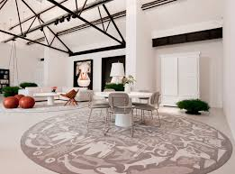 Round Flower Rug by Elegant Luxurious Round Interior Living Room Round Rug Escorted By
