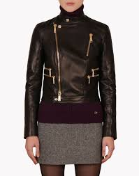 bike outerwear dsquared2 royal bike jacket leather outerwear women dsquared2