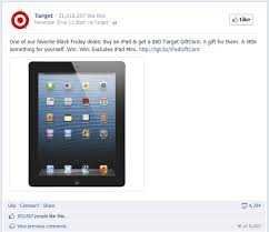 target black friday ipad 2 how target won black friday on facebook unmetric social media