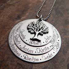 grandkids necklace grandmother s family tree necklace grandmother