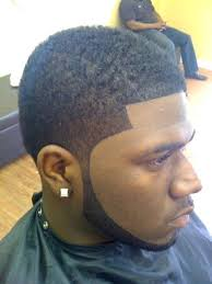 fade haircut with part on the side black men updos for short hair