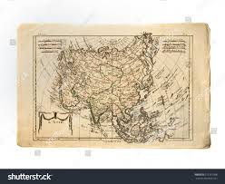 Map Asia Antique Old Map Asia Stock Photo 615151388 Shutterstock