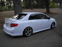 toyota corolla pimped pimped cars 09 corolla with kit and rims