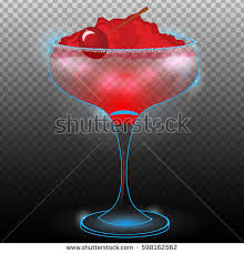 Cherry Cocktail Party Effect - scotch on rocks bokehneon cocktail light stock vector 611763419