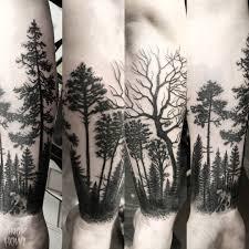 andy howl tree half sleeve yesterday 5 hours blackwork