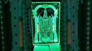 lord venkateswara photo frames with lights and music tirupati balaji led laigting photo frem 2 youtube