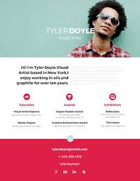 established visual artist resume templates by canva